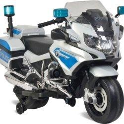 Электромотоцикл BMW R1200RT Police 12V - 212 (колеса резина, кресло кожа, музыка, ручка газа) (Копировать)